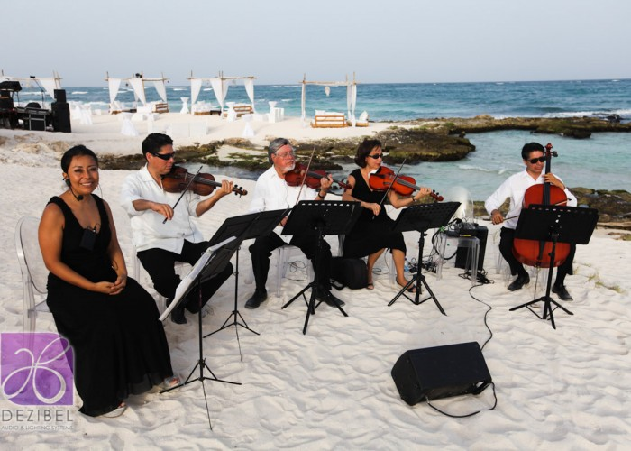 Beach Wedding cancun- Violin-21