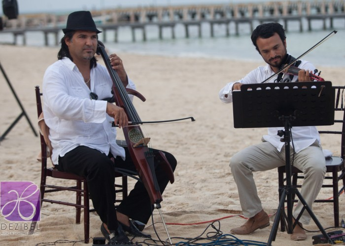 Beach Wedding cancun- Violin