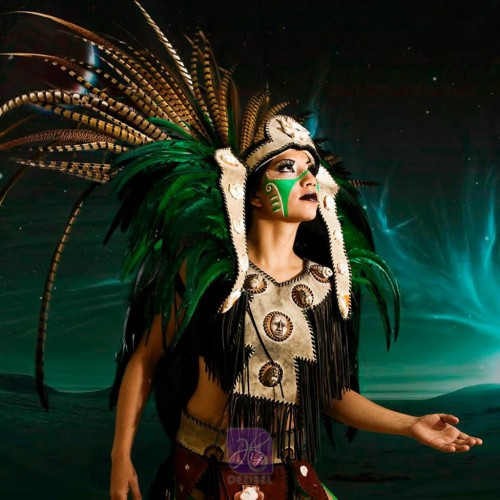 women mayan dancer in cancun for events