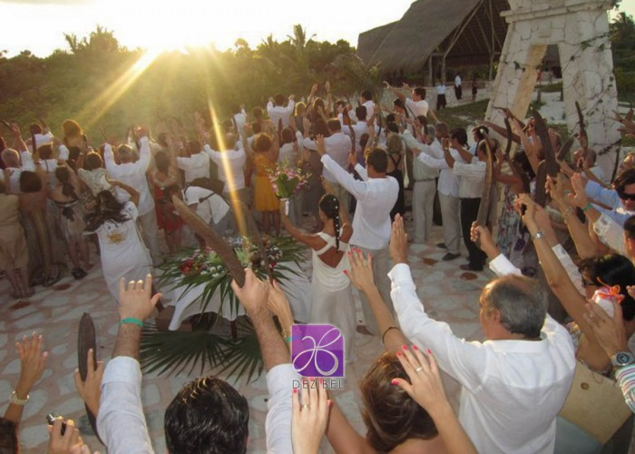 Wedding cancun-Planners - Mayan Ceremony at the beach