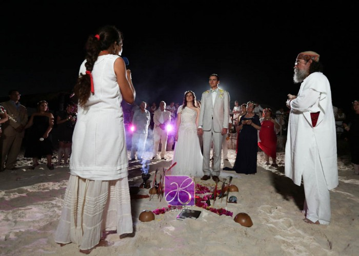 Wedding cancun-Planners - Mayan Ceremony at the beach-75