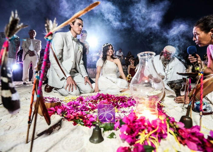 Wedding cancun-Planners - Mayan Ceremony at the beach-89