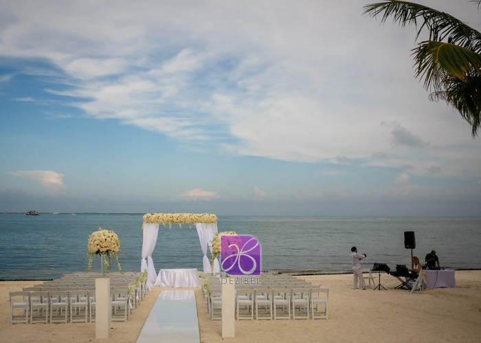 gazebo decor by dezibel wedding florist