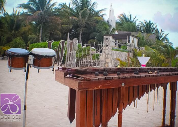 Beach Wedding cancun- Marimba-8
